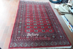 Persian rug cleaning before