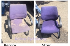 Upholstery Cleaning Before & After