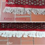 Rug cleaning before after