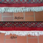 Rug cleaning before after 2